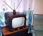 MOTOROLA 17T13 VINTAGE TELEVISION SET 1953 RETRO 1950's TV w/ RABBIT EAR ANTENNA