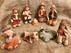 Nativity Set Ethnic Southwestern Mexico 8 pc Pottery