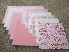 12 Sheets 6x6 Scrapbook Paper Breast Cancer Awareness Theme