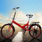 Folding 20ft Bike 6Speed Bicycle Fold Storage School Sports city Shimano Top New