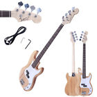 New Burning Fire 4 Strings Electric P Electric Acoustic Bass Guitar Wood Color