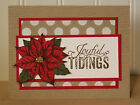 Poinsettia GREETING CARD KIT Stampin Up Joyful Tidings Holiday Christmas