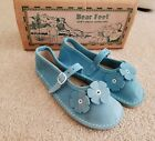 Bear Feet Shoes Turquoise Flower Power Mary Janes 13 NEW