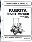 Kubota GF1800(E) Mower + Deck Operator Manuals (set of 2)