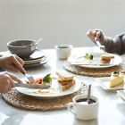 Round Straw Weave Water Hyacinth Handmade Natural Placemat Place Mat