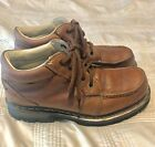 DR DOC MARTENS Kyle Mens 10 Brown Leather Lace Up Ankle Work Boots Mocs 11525