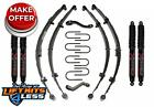 Skyjacker J34K B 35 Lift Kit w Black Max Shocks for 1955 1975 Jeep CJ5 CJ6 Gas
