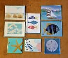 LOT of 8 PAPYRUS Greeting Cards BLANK Decortative Unique Sealed NAUTICAL