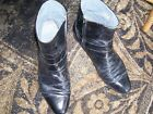 Stacy Adams Beatles Mod Style Black Leather Dress Ankle Boots Mens Sz 115 M