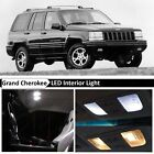 White Interior LED Lights Package for 1993 1995 Jeep Grand Cherokee