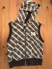Pumpkin Patch Toddler Boys Hooded Vest Zip Up Size 24Months 2T Gray White