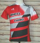 Vintage Aussie Wheel Thing Cycling Red Black Jersey Bike Mens Size Medium