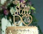 Gold 50th Wedding Anniversary Crystal Rhinestone Cake Topper party supplies NEW