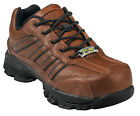 Nautilus Mens Soft Toe ESD Oxford M Brown Pebbled Leather Shoes
