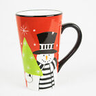 Christmas Snowman Coffee Cup Holidays Stephanie Stouffer Certified International