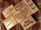 Wood Mounted Rubber Stamps Lot of 6 Stampin up Stampabilities Sayings