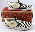 Vans Off the Wall Youth Asher Checkers Black Natural Skate Tennis Shoes Size 2