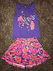 TCP The Childrens Place Little Girl PARIS Outfit Tank Top Skirt XS Small 4 5 6