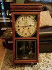 Antique rare 30 day waterbury stork regulator clock with second hand