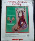 Dimensions Cross Stitch Christmas Antique Santa Stocking Craft Kit Personalized