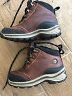 Timberland Brown Leather Ankle Trail Hiking Boots Youth Kids Boys Size 9