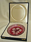 1971 Royale Germania Crystal Ltd Ed. Cranberry Cut to Clear Shallow Bowl Dish