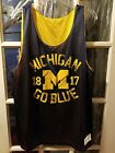 Michigan Wolverines Reversible Basketball Practice Jersey Adult XL March Madness