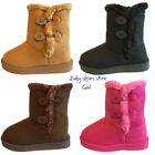 Baby infant toddler girls suede boots shoes size 5 10