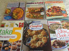 Lot of 6 WEIGHT WATCHERS COOKBOOKS recipes comfort foods slow cooker FREE SHIP