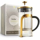 VonShef 1 Liter Heat resistant French Press Cafetiere Coffee Maker Glass 8 Cup