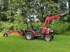 2014 Mahindra Max28HST tractor loader backhoe 60 mower 16 trailer 4 brushhog