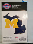 Michigan Wolverines Home State Decal Sticker Repositionable NEW USA SHIPPER