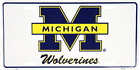 Michigan Wolverines License Plate Sign Tag Man Cave White Plate Made in the USA