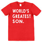 WORLD'S GREATEST SON T-SHIRT christmas birthday mother father gift present