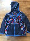 The North Face Glacier Full Zip FLEECE Hoodie JACKET Baby 18 24 mo Blue and Red