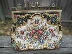 Antique/Vintage Ladie's Flower Enbroidered Clutch Purse (Believe from 1920's)