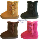 Baby infant toddler girls nice suede boots shoes size 3 8