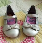 Silver Dress Shoes Toddler Girl 55 Mary Janes EUC