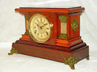 Antique Seth Thomas 8 day time and strike adamantine mantel clock