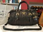 IMMACULATE AUTHENTIC Prada Gaufre Soft Lamb Leather Black Tote Bag