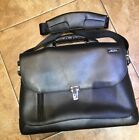 BLACK LEATHER TUMI BRIEFCASE Great condition no rips pr tears Very Smart