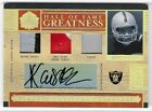 MARCUS ALLEN 06 NATIONAL TREASURES HALL FAME AUTO PATCH PRO BOWL CARD #4 25!