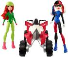 DC Super Hero Girls Harley Quinn and Poison Ivy with ATV Figure and Vehicle