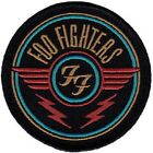 The Foo Fighters Red Logo Embroidered Iron On Patch alternative grunge nirvana