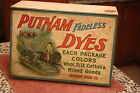 vintage Putnam dyes box with dividers, nice graphics, must see
