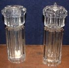Olde Thompson 7 Inch Clear Ribbed Acrylic Salt Shaker And Pepper Mill