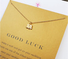 Lucky Elephant Pendant Necklace Good Luck gift Lady Women Fashion Jewelry gift