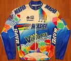 VINTAGE SMS SANTINI MAPEI COLNAGO 2002 CYCLING JERSEY JACKET BREEZE WALL M 44 46