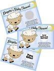 BABY BLUE LAMB SHEEP SCRATCH OFF OFFS PARTY GAME GAMES CARDS SHOWER FAVORS
