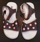 Girls Size 13 Brown with Pink Polka Dot Puddle Jumper Sandals NEW Bag CLEARANCE